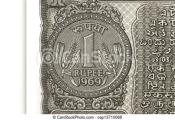Rupee Note Vector Rupee Note One Rupee Coin