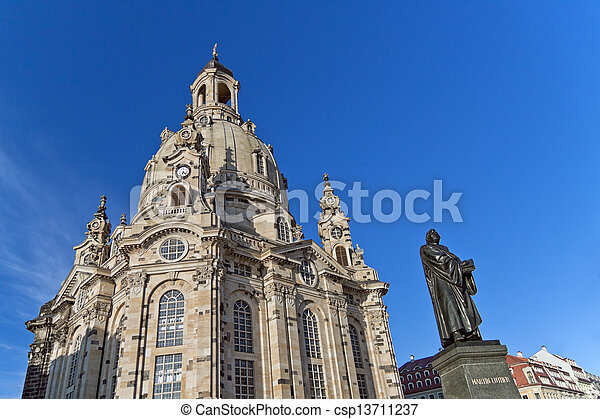 Dresden Frauenkirche, Church of our Lady - csp13711237