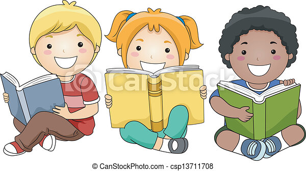 Children Reading Books - csp13711708