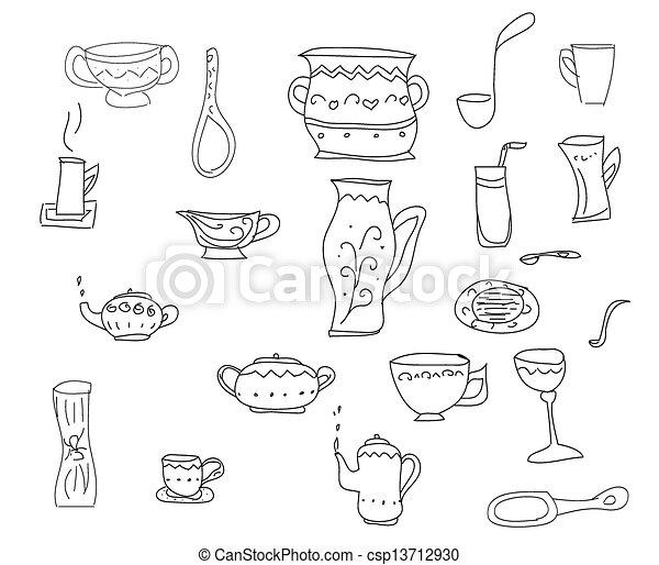 Vettori di attrezzi set grande sk vettore cucina for Attrezzi in cucina