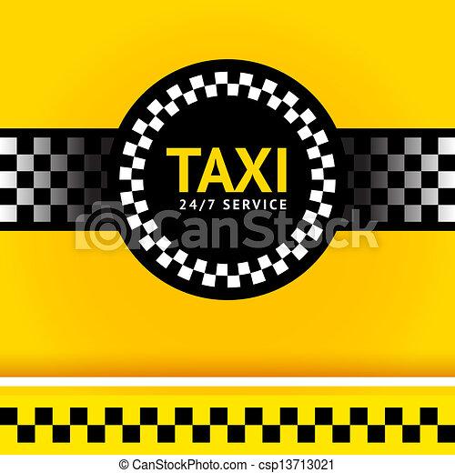 Taxi symbol, square - csp13713021