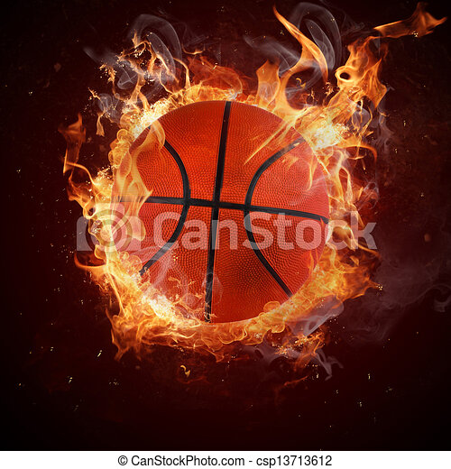Clipart of Hot basketball in fires flame csp13713612 - Search Clip ...