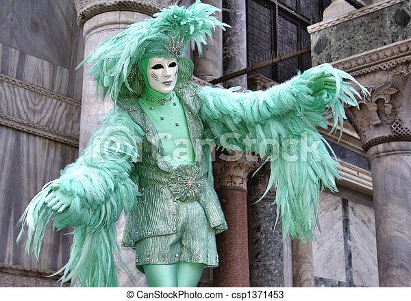 Carnival in Venice, Italy - csp1371453