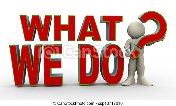 What to do clipart