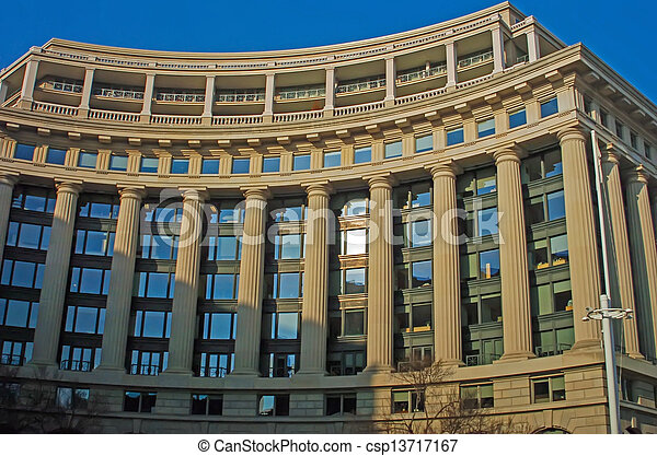 Modern Greek Architecture stock image of modern greek architecture building details