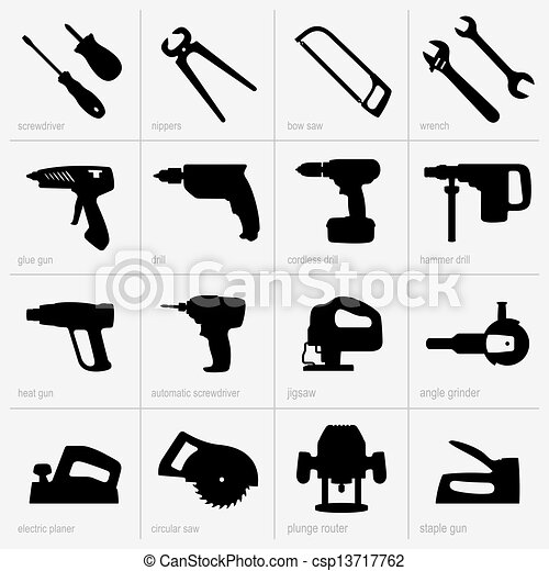 Set of industrial tools - csp13717762
