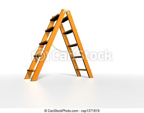 Stock de ilustraciones de de madera escalera blanco for Plano escalera madera