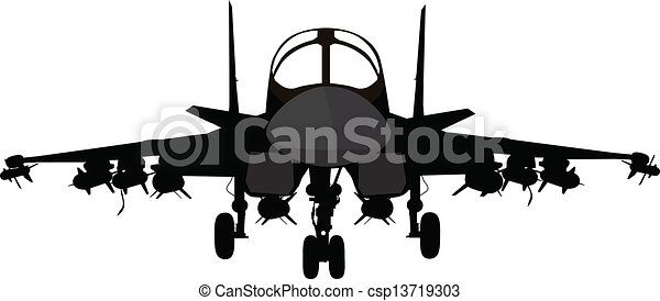 Military aircraft - csp13719303