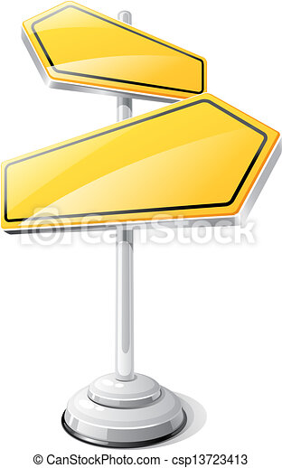 Yellow road sign isolated design template. - csp13723413