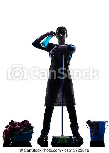 photographies de femme bonne m nage d sespoir surmenage silhouette csp13723816. Black Bedroom Furniture Sets. Home Design Ideas