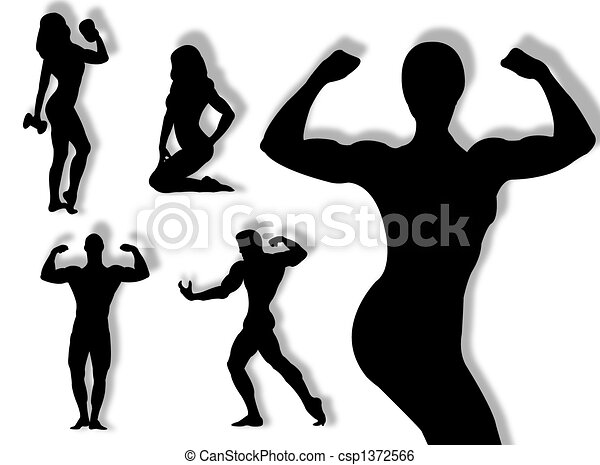 Body builder silhouette - csp1372566
