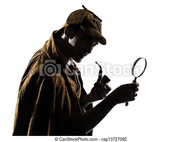 sherlock holmes silhouette - csp13727092