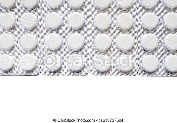Blister of pharmaceutical pills - csp13727524
