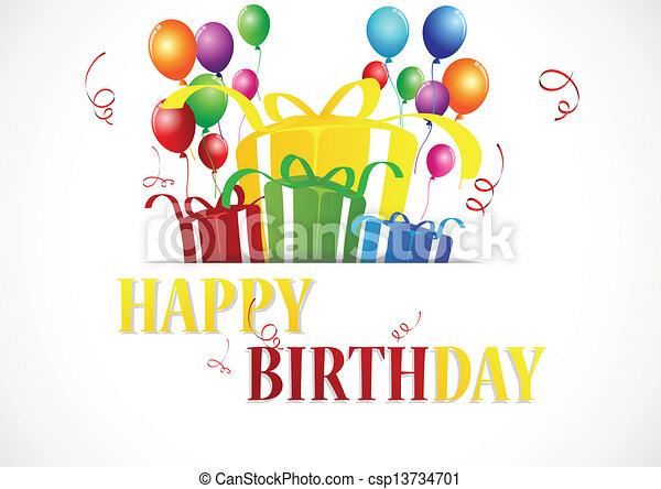 Birthday celebration  - csp13734701