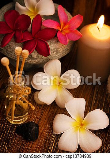 Low light spa massage setting - csp13734939