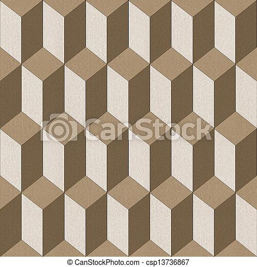 Seamless geometric pattern on textured paper - csp13736867