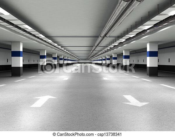 Underground parking - csp13738341