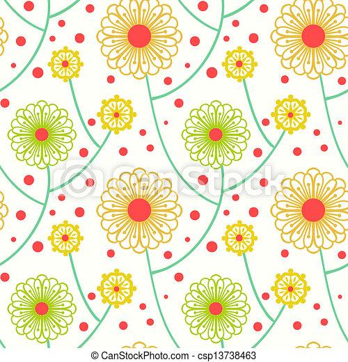 Vetor simples floral padr o arrojado flores for Sala de estar 3x5