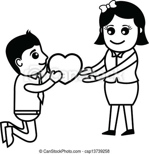 Cute Love Drawing Cute Cartoon Couples in Love