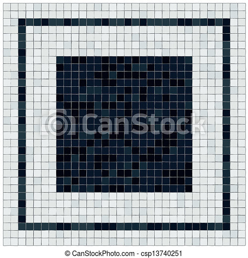 Clipart vector of little black and white tiles floor for Floor covering software free