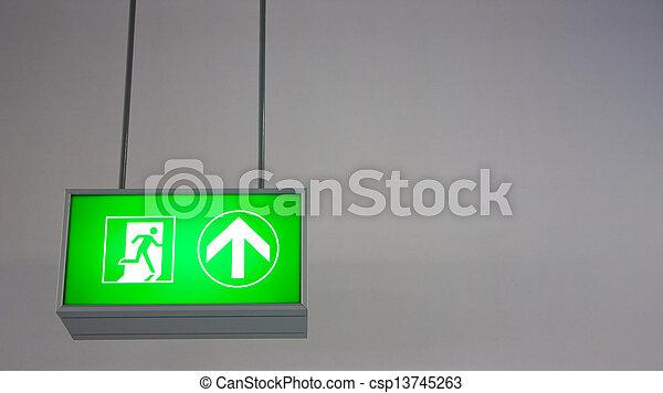 Emergency Exit - csp13745263