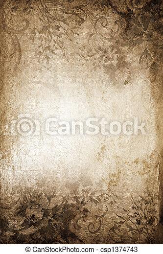 vintage background - csp1374743