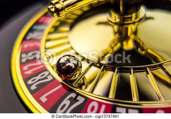 roulette casino gambling - csp13747491