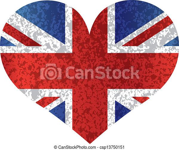 Clipart vectorial de coraz n inglaterra uni n bandera - Dibujo bandera inglesa ...