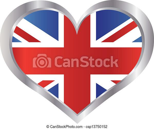 Vecteur clipart de union coeur drapeau angleterre cric union jack csp13750152 - Dessin de l angleterre ...