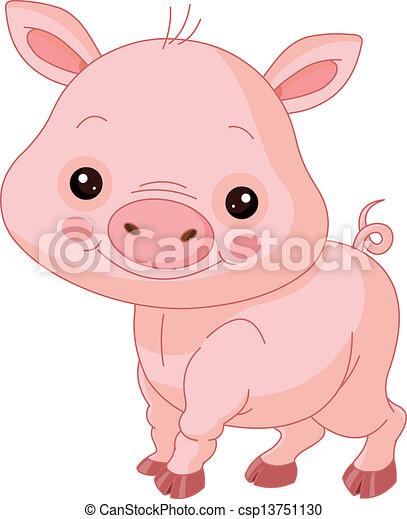 Fun zoo. Pig - csp13751130