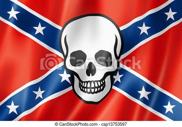 Confederate death flag - csp13753597