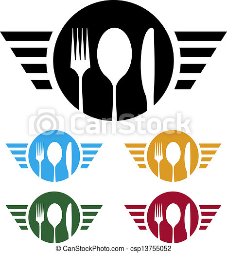 Clipart Vector of Food business logo - ideal logo for catering or ...