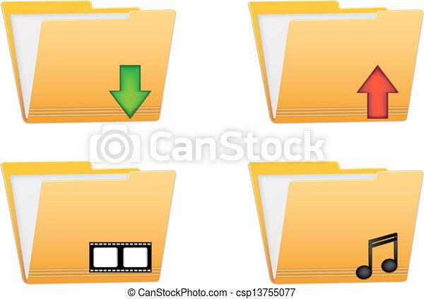 folder vector icons - csp13755077