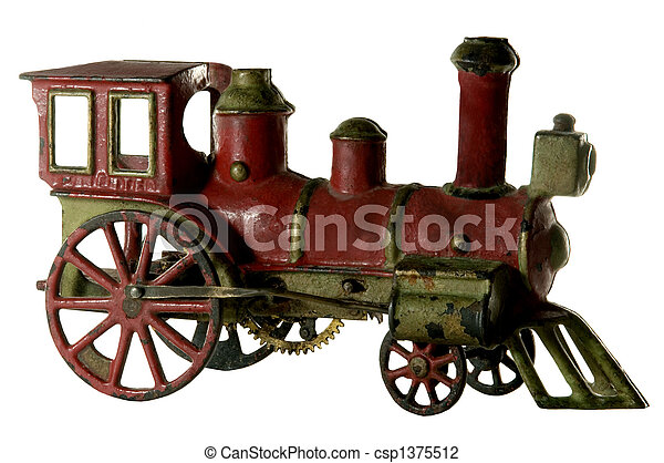 ANTIQUE WIND-UP IRON TRAIN - csp1375512