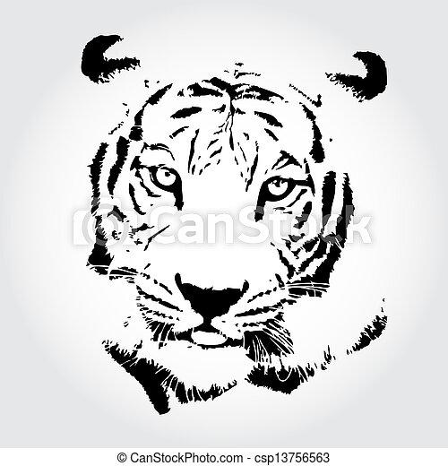 Image de tigre dessin tigre croquis isol backgrond csp13756563 recherchez des - Image dessin tigre ...