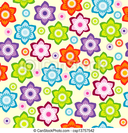 Color Floral Background Floral Background With Colored