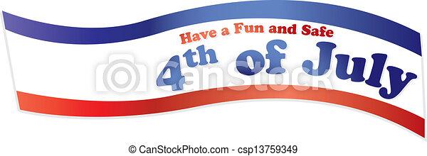 4th of july ribbon - csp13759349