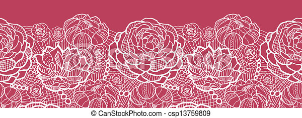 Lace Flowers Drawings Red Lace Flowers Horizontal