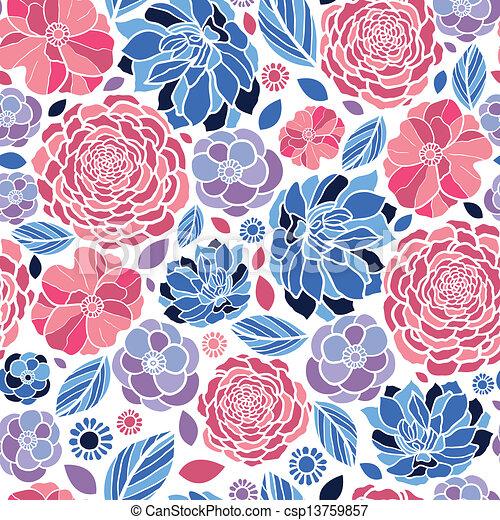 Vector - mosaico, flores, seamless, patrón, Plano de fondo - stock de ...