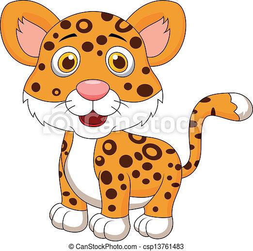 Vector de lindo, bebé, jaguar, caricatura - vector, Ilustración ...