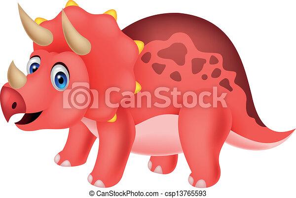 Cute dinosaur cartoon - csp13765593
