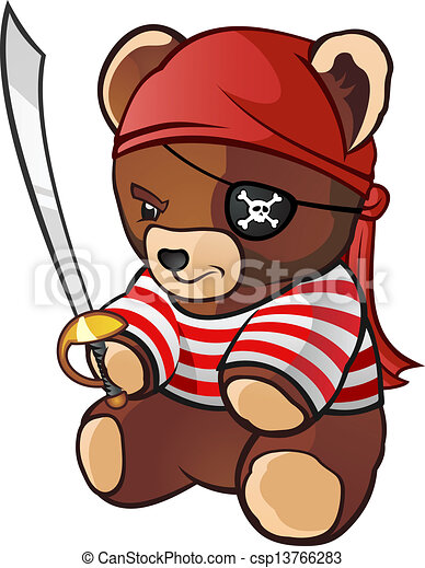 vector of pirate teddy bear cartoon character a teddy pirate skull and crossbones clip art free clipart skull and crossbones pirate