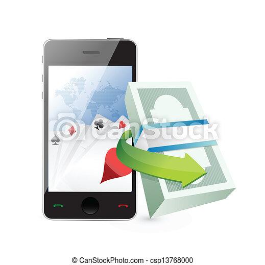 online gambling tool concept illustration design - csp13768000