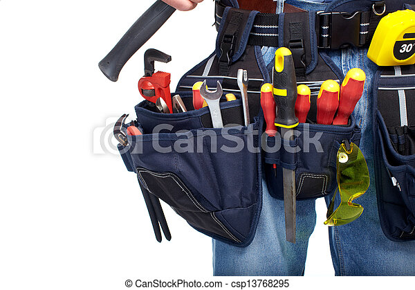 Tool belt. Construction and renovation. - csp13768295