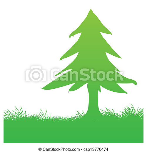 Ilustraciones vectoriales de árbol, pino - vector, Ilustración, de ... | {Pino logo 62}