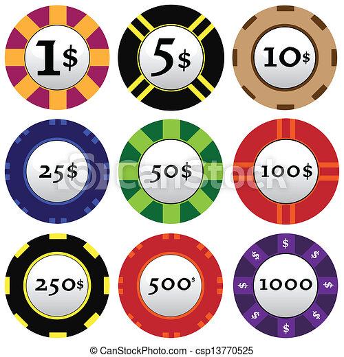 gambling chips - csp13770525