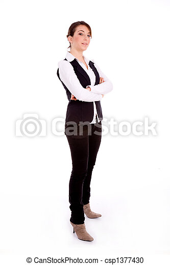 Woman Standing Side White Background Side pose of standingWoman Standing Side White Background