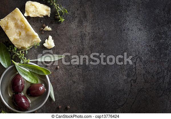 cibo, fondo - csp13776424