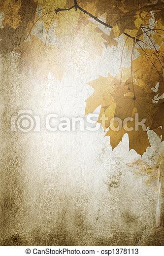 vintage fall - csp1378113
