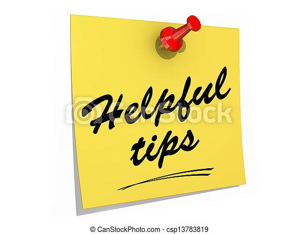 Helpful Tips White Background - csp13783819